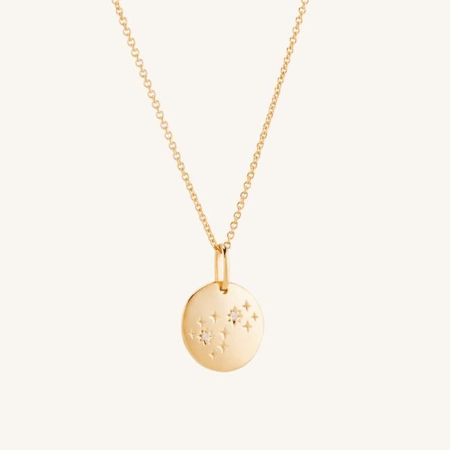 Zodiac Necklace Scorpio Vermeil