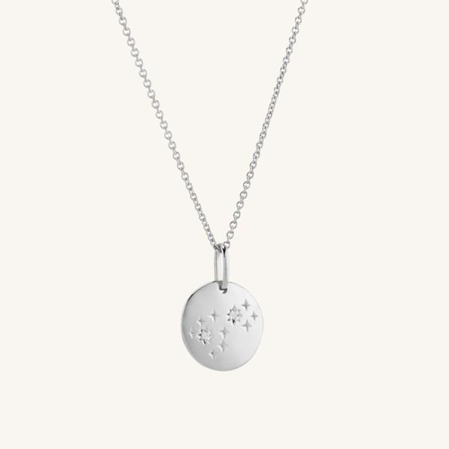 Zodiac Necklace Scorpio Silver