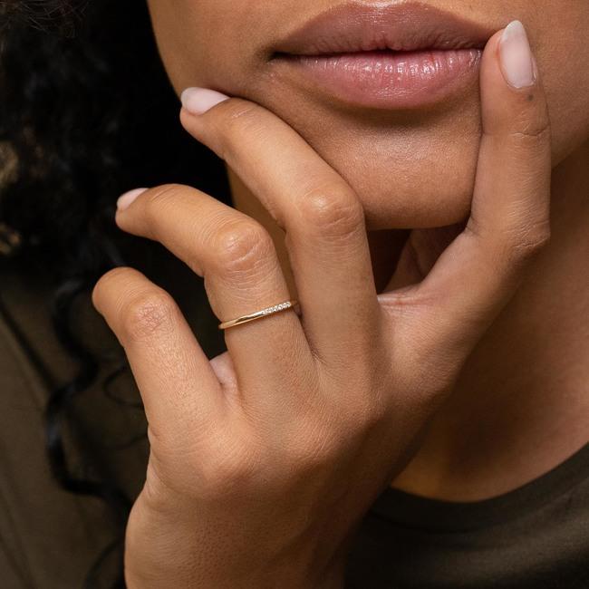 Diamonds Line Ring