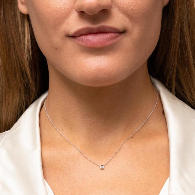 Diamond Necklace White Gold