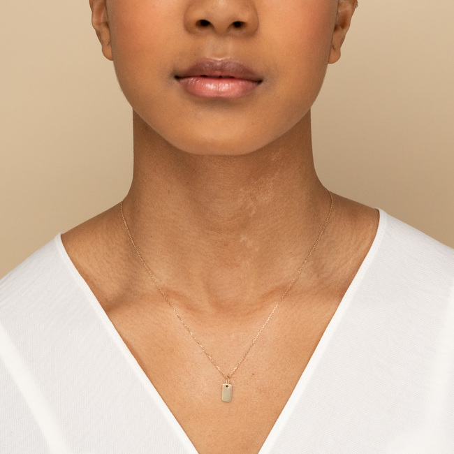 Engravable Tag Necklace